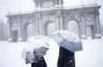 Hevige sneeuwval Madrid